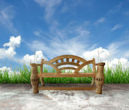 Wooden bench Stock Image