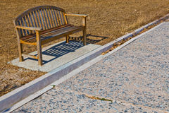A wooden bench Stock Photography