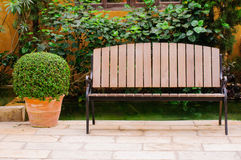Wooden bench Stock Images