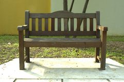 Wooden Bench. In Park Royalty Free Stock Image