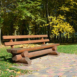 Wooden bench Royalty Free Stock Photo