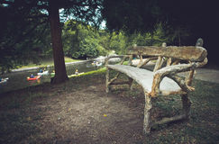 Wooden Bench Royalty Free Stock Image
