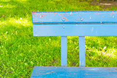 Wooden bench. Close-up of an wooden bench royalty free stock photos
