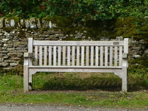 Wooden Bench Commemorating Diamond Jubilee Royalty Free Stock Photography