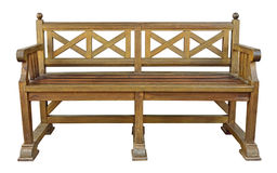 Wooden bench cutout Royalty Free Stock Images