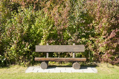 A Wooden Bench at a Golf Course in Autumn, Germany Royalty Free Stock Photos