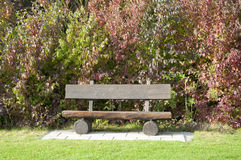 A Wooden Bench at a Golf Course in Autumn, Germany Royalty Free Stock Image