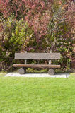 A Wooden Bench at a Golf Course in Autumn, Germany Stock Photos