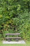 A Wooden Bench at a Golf Course in Bavaria, Germany Royalty Free Stock Image