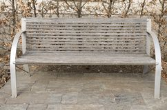 Wooden bench in Graz Royalty Free Stock Photography