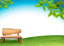 A wooden bench Royalty Free Stock Photo