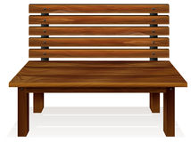 A wooden bench royalty free illustration