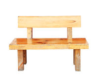 Wooden bench isolated by hand made with clipping path. Royalty Free Stock Photos