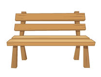 Wooden bench isolated illustration Stock Photography