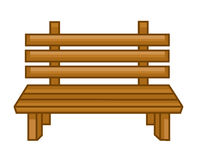 Wooden bench isolated illustration Stock Images