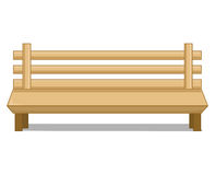 Wooden bench isolated illustration Royalty Free Stock Photos