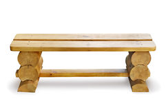 Wooden bench. Isolated on a white background Stock Photography