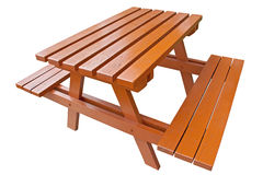 Wooden bench on isolation Stock Photography