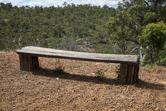 A wooden bench in John Forrest National Park Stock Image