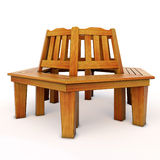 wooden Bench model Stock Image