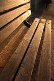 Wooden Bench Morning Royalty Free Stock Photo