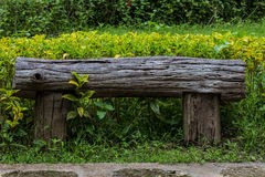 Wooden bench, object Stock Photo