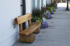 Wooden bench old house Royalty Free Stock Photography