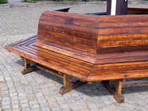 Wooden bench in a park Royalty Free Stock Image