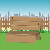 Wooden bench in a park Royalty Free Stock Images