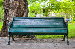 Wooden bench. At a park Royalty Free Stock Photography
