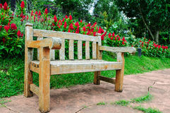 Wooden bench. In the park Royalty Free Stock Photography