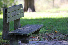 Wooden bench. In the park Stock Photos