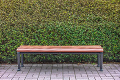 Wooden bench in park Royalty Free Stock Images