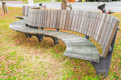 .Wooden bench in the park Royalty Free Stock Image