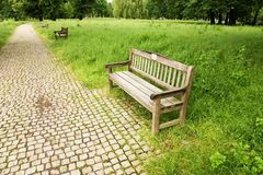 Wooden bench Royalty Free Stock Photos
