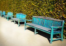 Wooden Bench Park Stock Photography