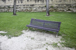 Wooden bench in park Stock Images