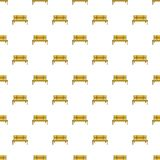 Wooden bench pattern seamless Stock Image