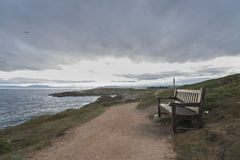 Wooden bench. Royalty Free Stock Photos