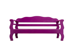 Wooden bench. Purple wooden bench isolate on white background royalty free stock photos