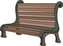 Bench. Wooden bench for rest in park Royalty Free Stock Images
