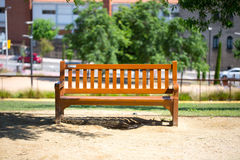 Wooden bench for rest Royalty Free Stock Photography