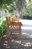 Wooden bench for rest Royalty Free Stock Photos