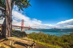 Wooden bench in San Francisco. California Stock Photography