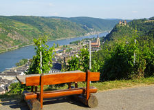 Rhine River scenic overview Royalty Free Stock Images