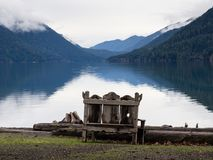Lake Crescent in Olympic National Park in winter Stock Photography