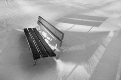 Wooden bench in snow Royalty Free Stock Photography