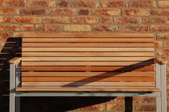 a wooden bench in the summer Royalty Free Stock Photos