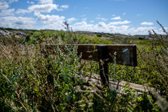 Wooden bench on Vrango island Stock Photography