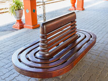 Wooden bench for waitting. Stock Images